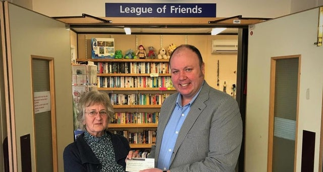 England - Freemasons present cheque to Horton League of Friends