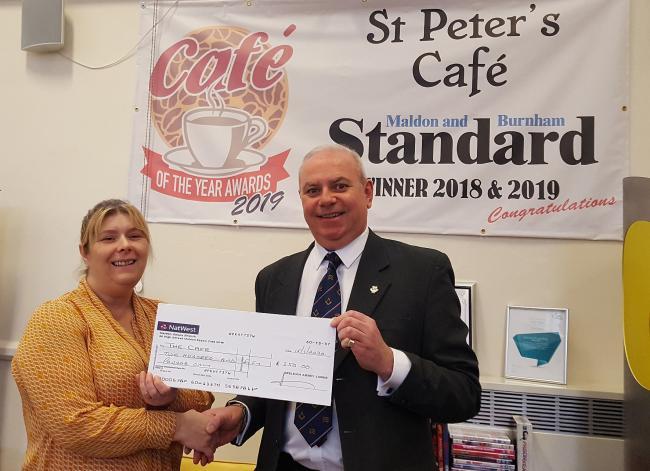 England - Masons give cash boost to award-winning hospital cafe in Maldon
