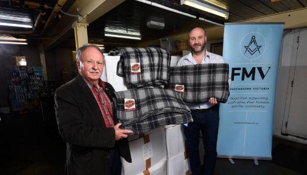 Australia - Freemasons Foundation donates blankets to Uniting Ballarat to help vulnerable people