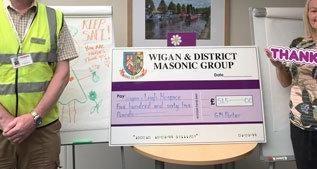 England - Freemasons maintain gift tradition for Wigan hospice in coronavirus crisis