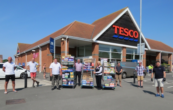 England - Highbridge area Foodbank given £2,000 boost by Freemasons and charity