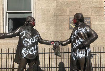 US - Philadelphia's Masonic Statues Vandalized