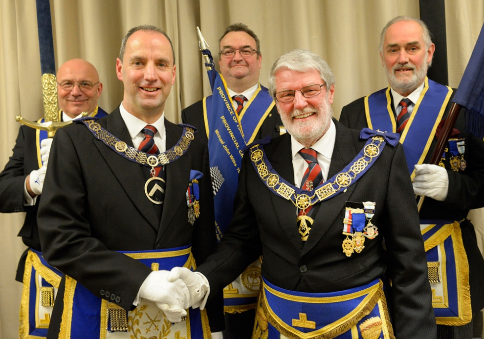 England - Provincial Grand Masters of Hampshire & Isle of Wight Freemasons bows out