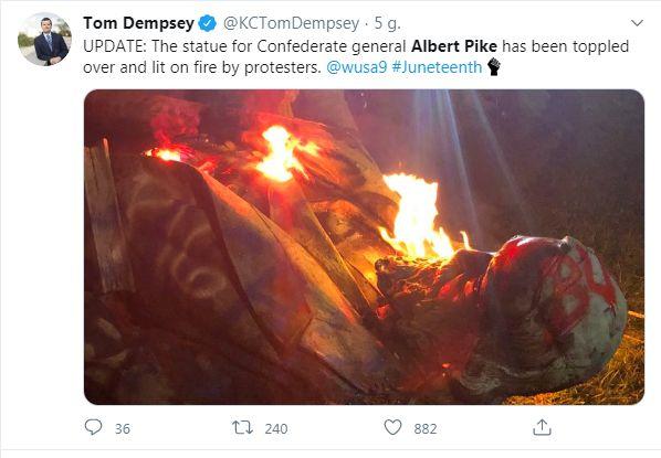 Albert Pike on Fire
