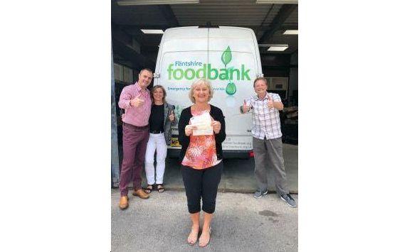 Wales - Freemasons make kind donation to Flintshire Foodbank