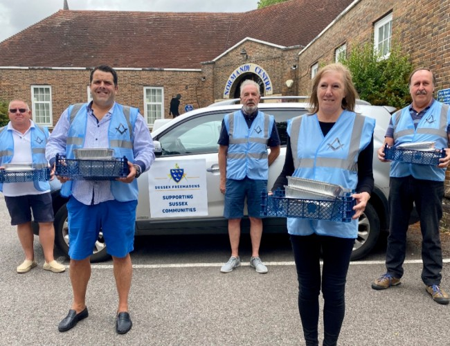 England - 63 Horsham families supported by Freemasons food initiative