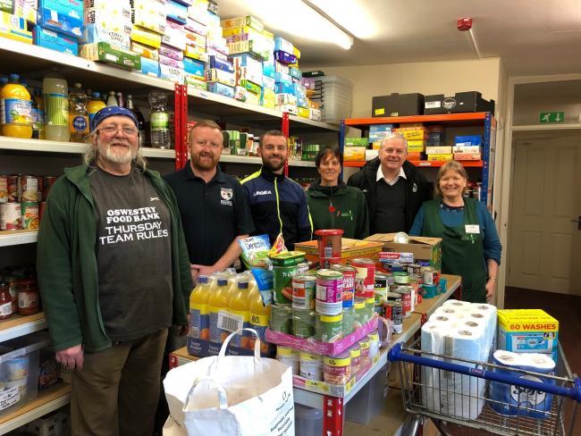 England - Freemasons donate £3k to help foodbank cause