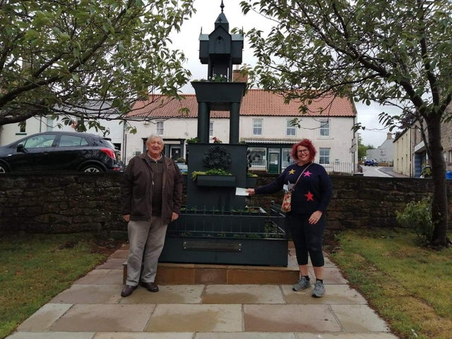 England - Floral fountain in blooming good shape thanks to Northumberland Freemasons