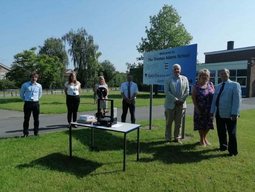 England- 3D printer donated to Wem school for future generation of engineers