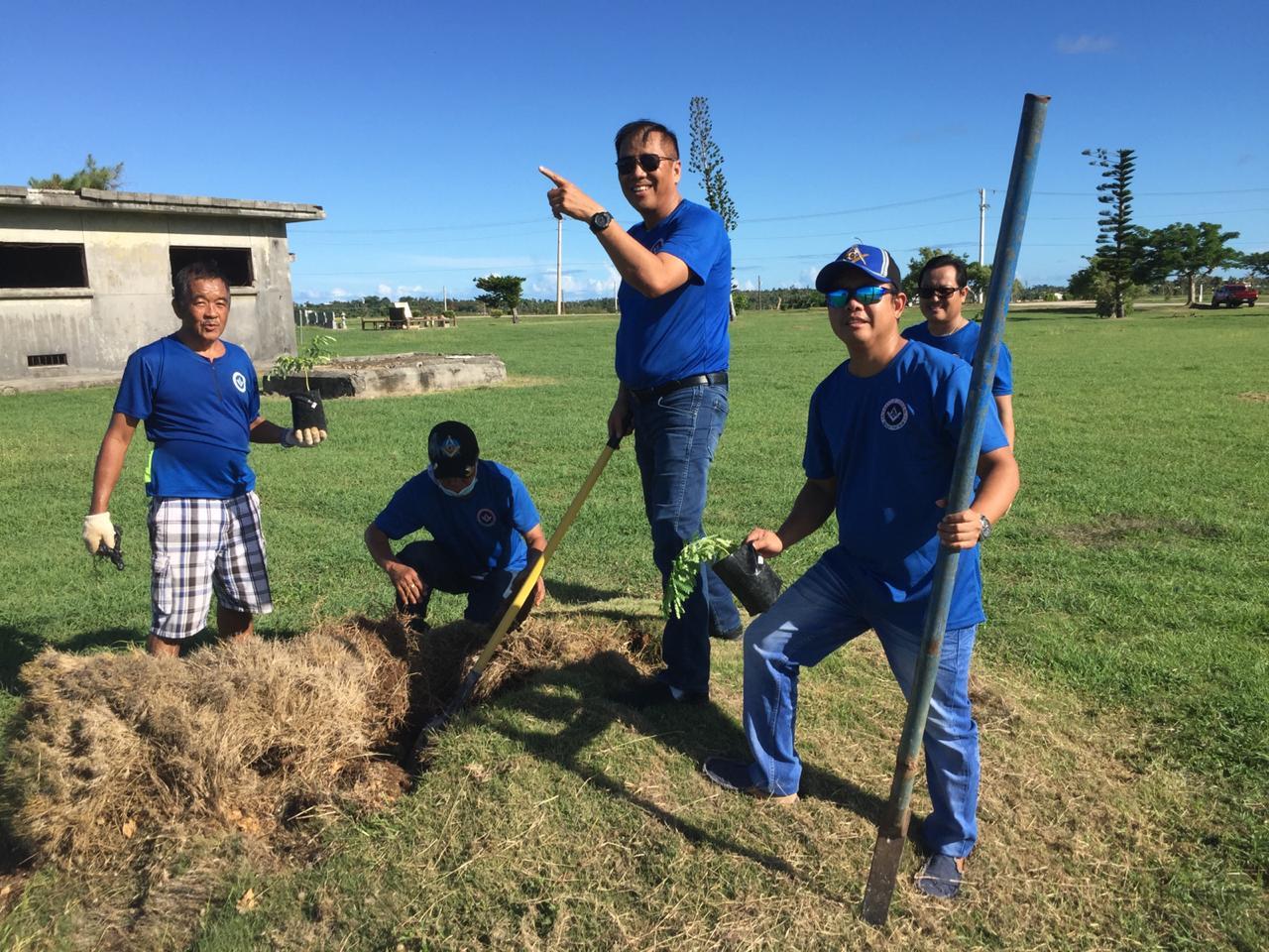 Micronesia - Freemasons plant trees to help keep Saipan green