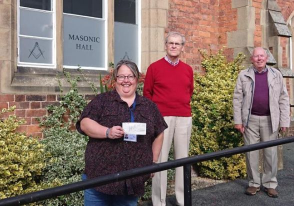 Wales - Mental health charity receive £2k donation from Welshpool Freemasons