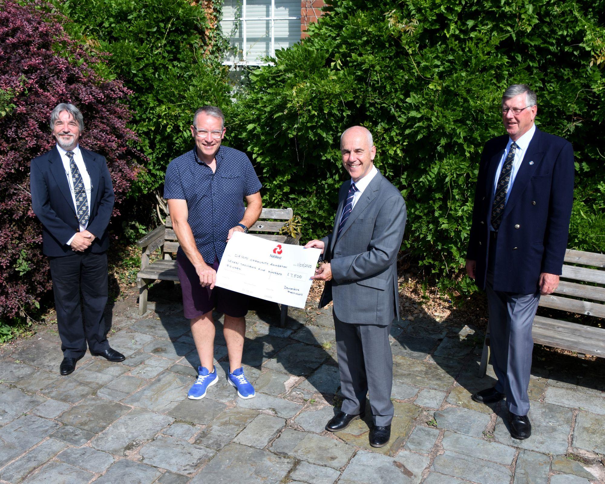 England - Freemasons donate thousands to help causes across Devon