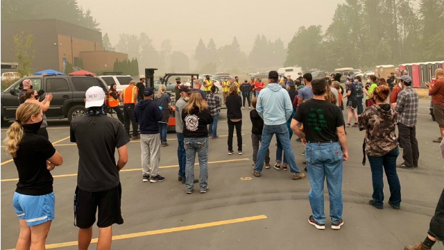 US - New Evacuee Relief Site operating in Lane County