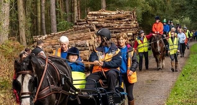 England - Freemasons make donation to Ebor Vale Group of Riding for the Disabled
