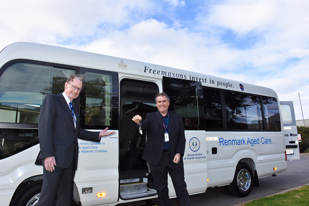 Australia - Freemasons' $170k donation gets aged care residents out and about