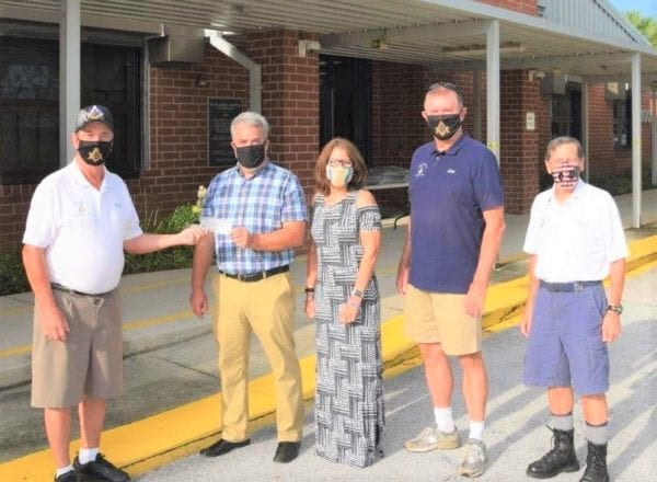 US - Masons make donations to help students at Villages Elementary of Lady Lake