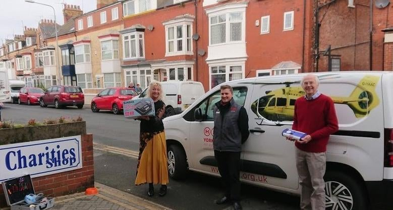 England - Three town causes supported by Old Bridlingtonian Lodge of Freemasons