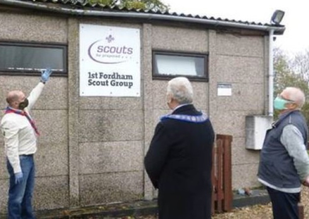 Cambridgeshire/England - Freemasons donation helps scouts to stay dry
