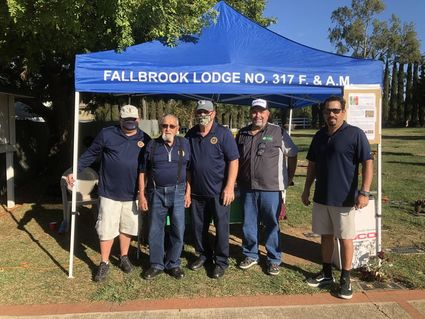 California/US - Fallbrook Masons support event at cemetery