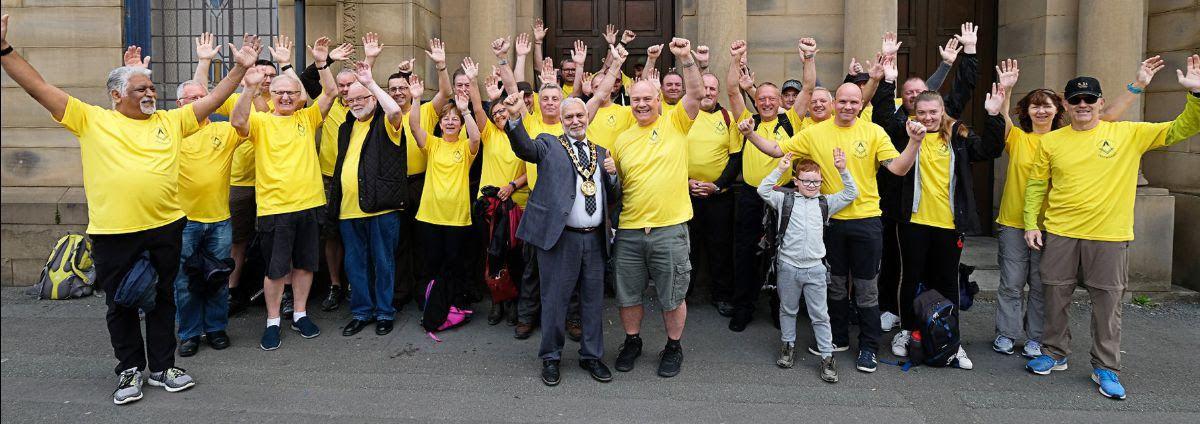 England - Rochdale Freemasons support HMR Circle