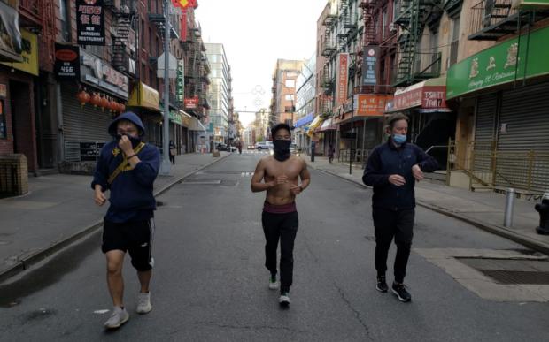 New York/U.S. - Chinese Freemasons Athletic Club running for Chinatown