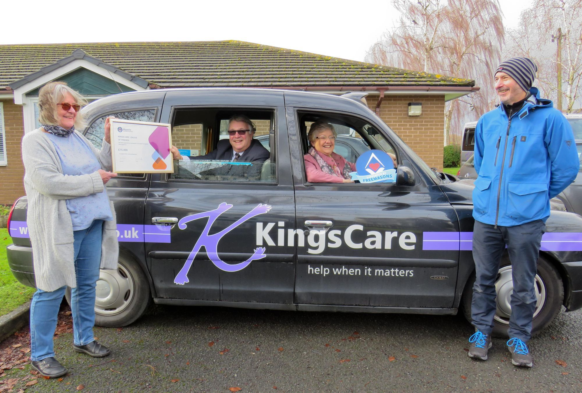 England - Kingsteignton Friends receive a welcome cash boost from Freemasons