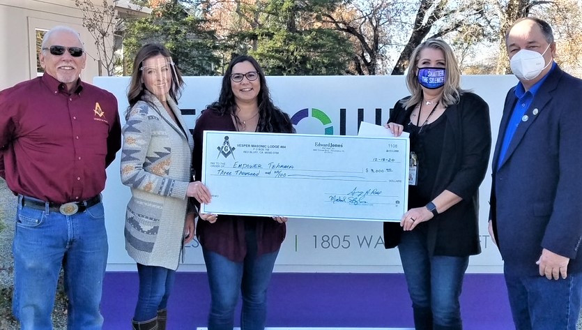 California/U.S. - Masons support Empower Tehama in protecting victims of violence