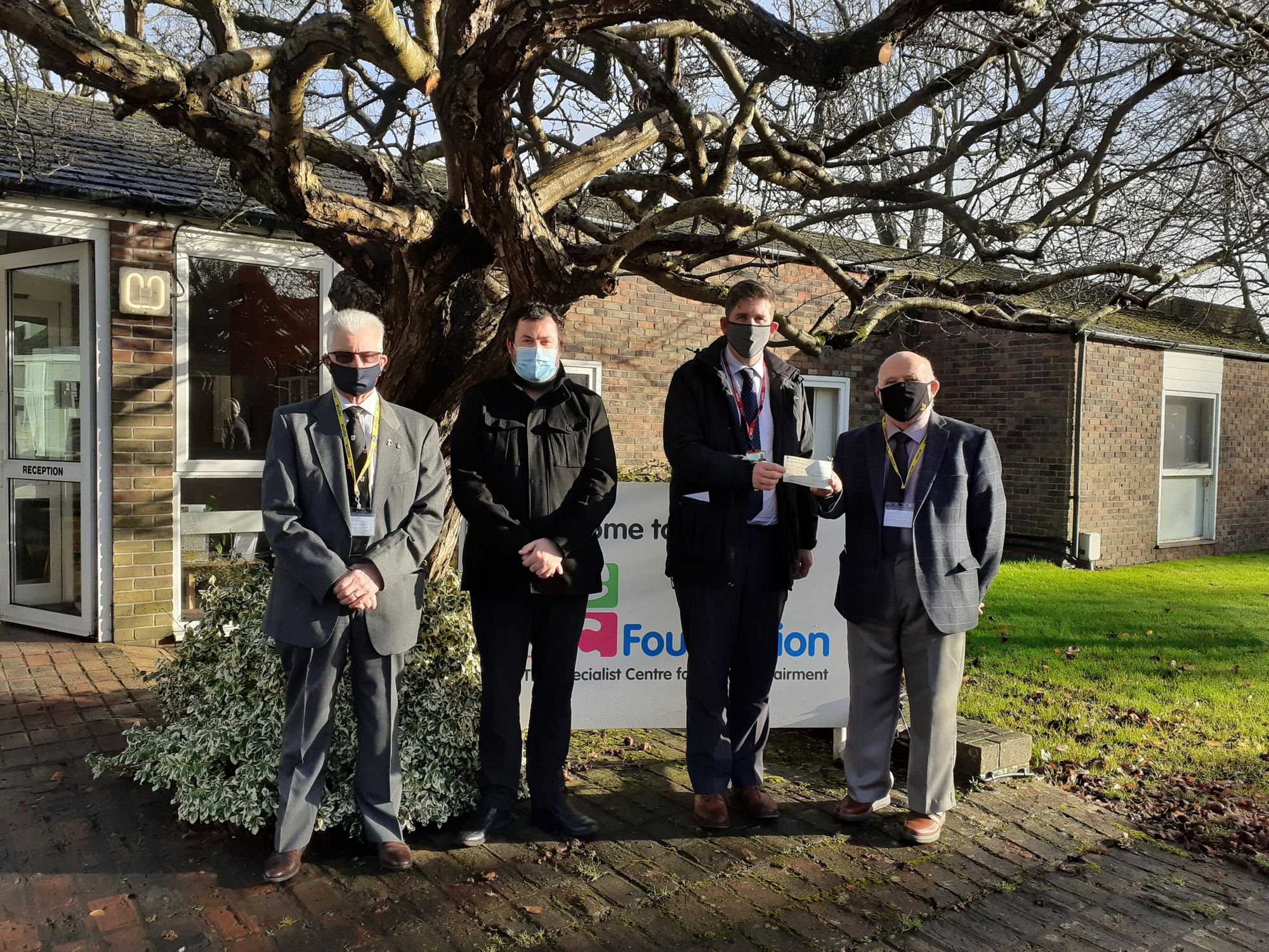 England - Budleigh Salterton Freemasons donate £900 to three Devon charities