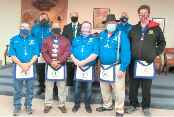 Masonic Lodge installs of new officers