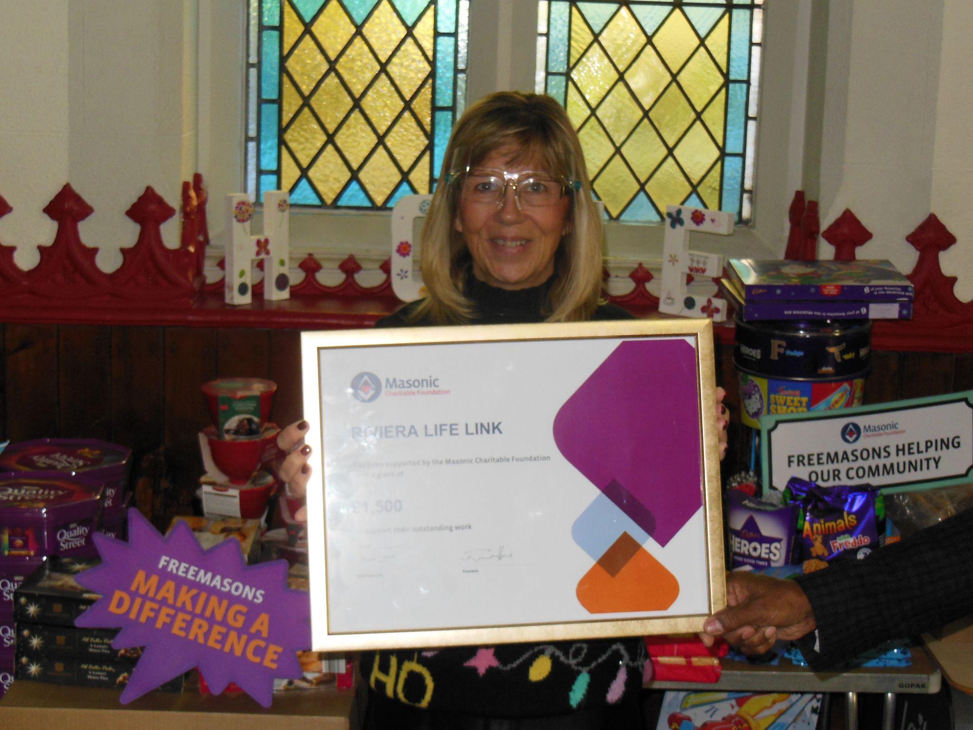 England - Lifeline for Torquay foodbank as Freemasons step in with donation