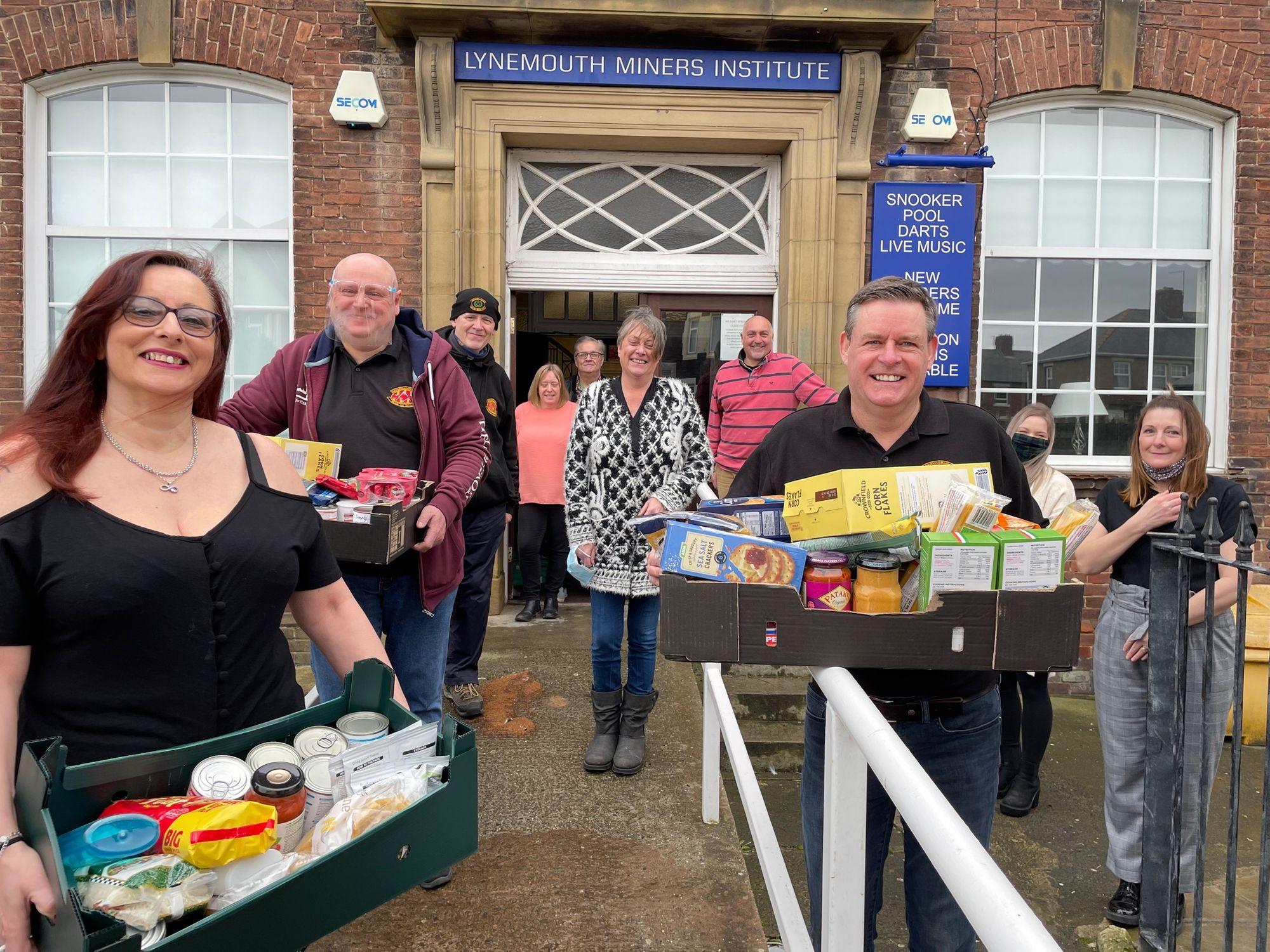 England - Freemasons donate to Lynemouth and Ellington based foodbank
