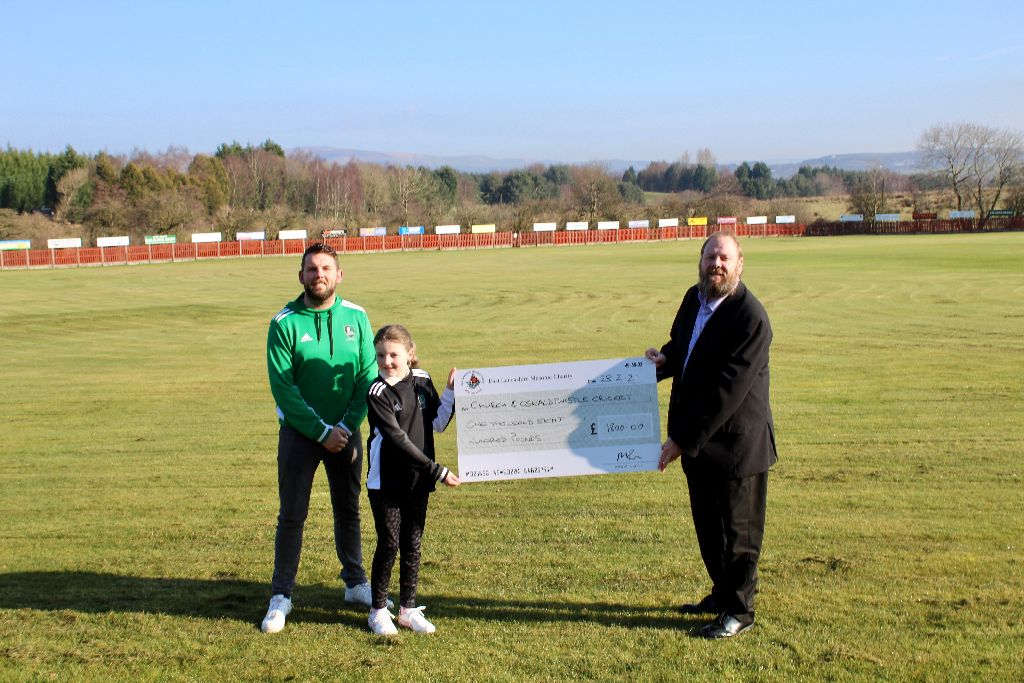 England - Freemasons thanked for £1,800 donation to Church Cricket Club