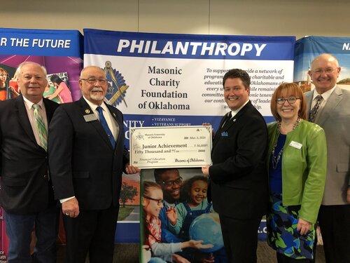 Junior Achievement of Oklahoma Receives $50,000 from the Freemasons