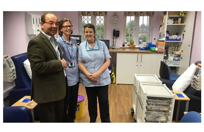England - Ely Freemasons make cash donation to support hospital cancer patients