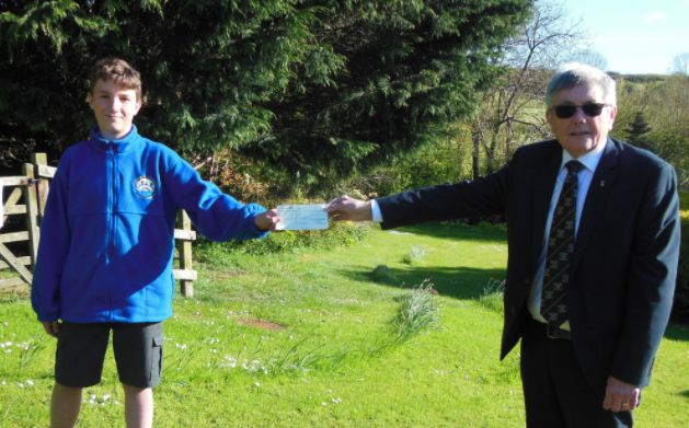 Devonshire/England - Freemasons give £500 to The Boy in The Tent