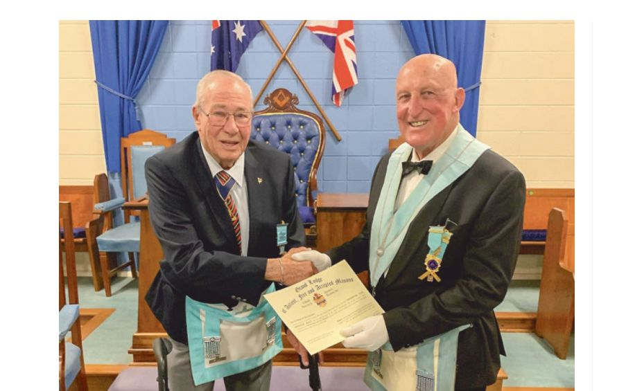 Ardrossan/Scotland - Hank's 50 years as a Freemason