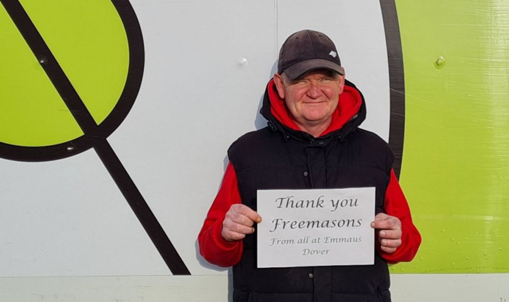 UGLE Freemasons donate £17,500 to Dover homelessness charity