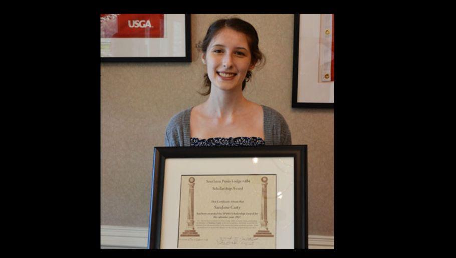 North Carolina/U.S. - Union Pines student awarded scholarship from Southern Pines Masonic Lodge