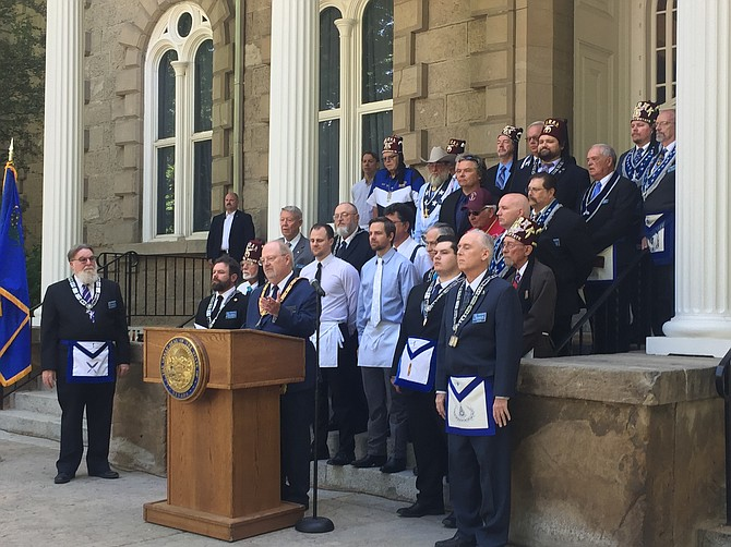 Freemasons rededicate Nevada State Capitol for 150th anniversary