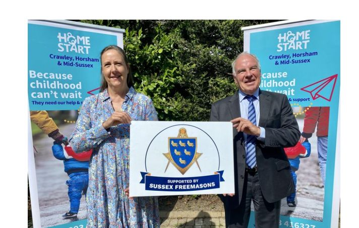 England - Home-Start CHAMS given grant from Sussex Freemasons