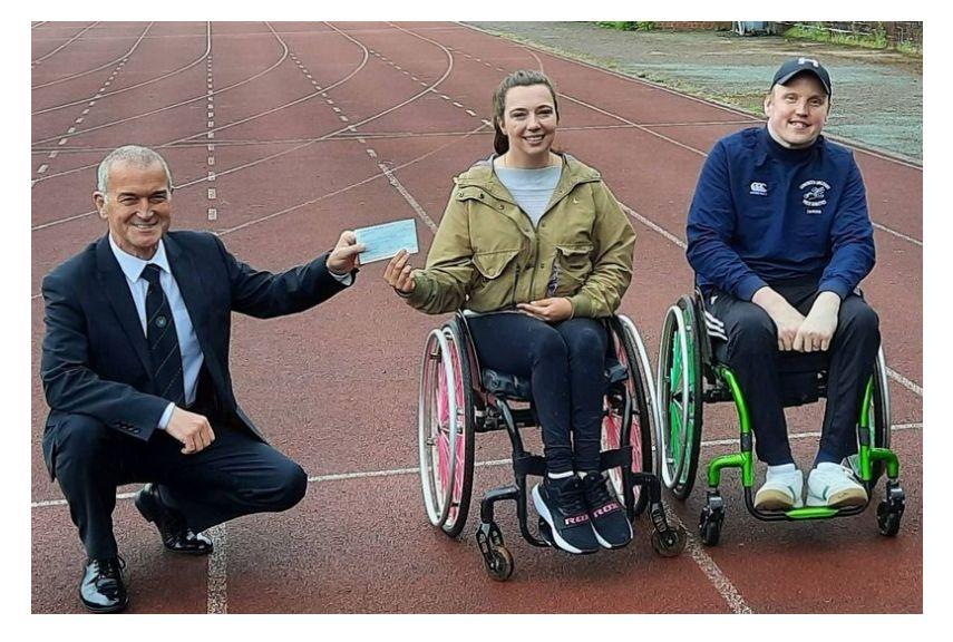 Scotland - Dumfriesshire Freemasons make generous donation to fire-hit wheelchair athletics club