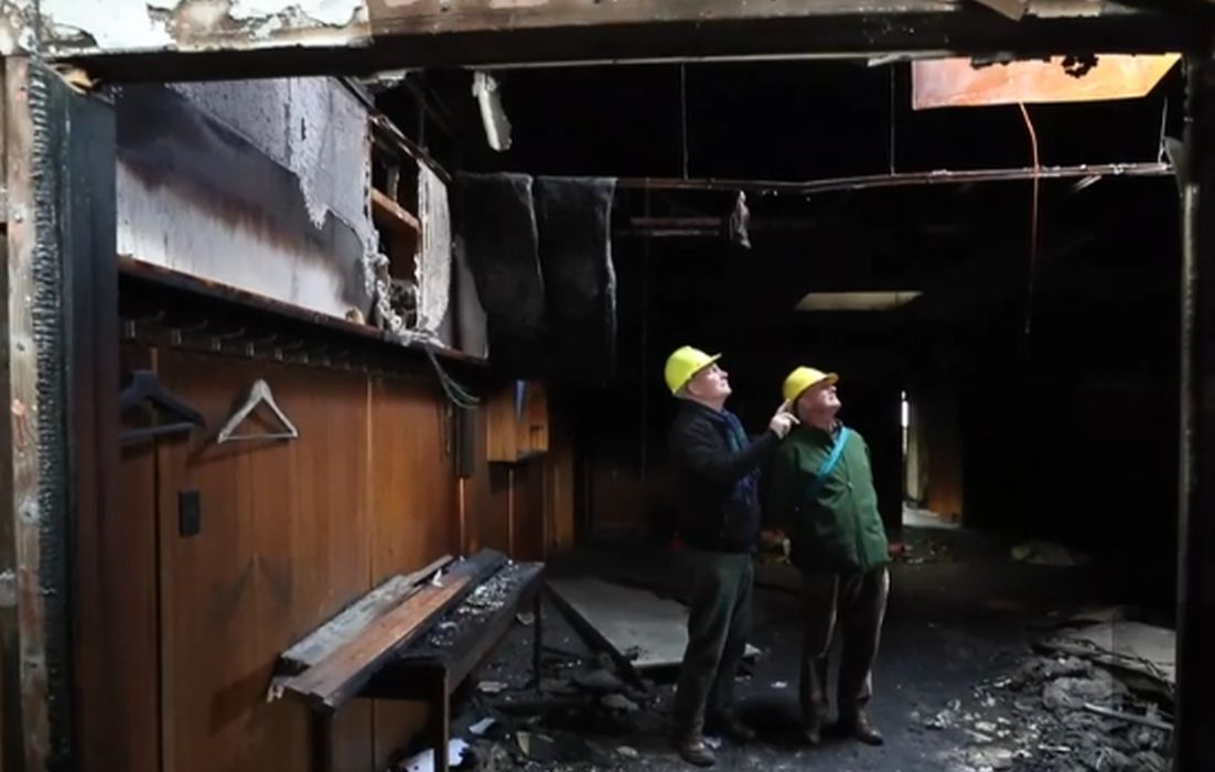 New Zealand - Masons to donate fire damaged hall's contents to charity