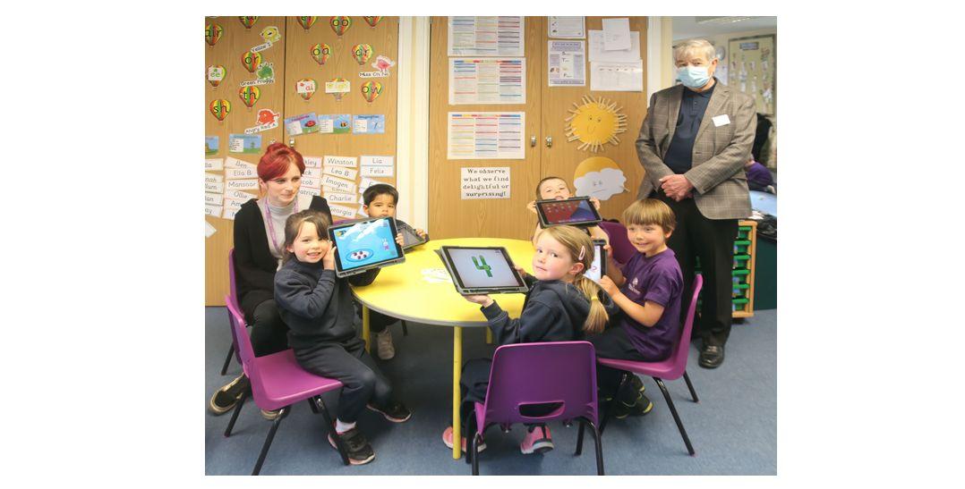 England - Freemasons gift iPads and laptops to Farnham schools