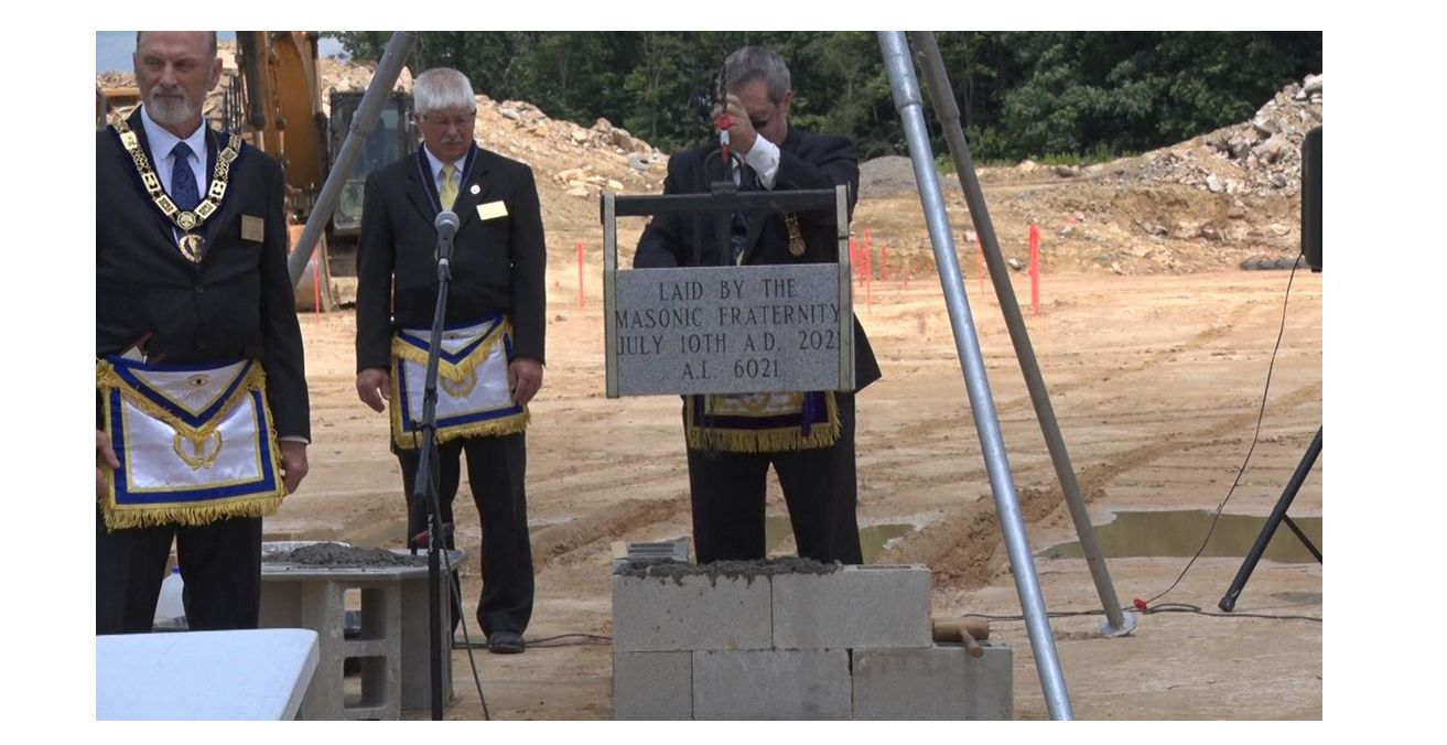 West Virginia/U.S. - Cornerstone Ceremony hosted at Raleigh County Sheriff's Department construction site