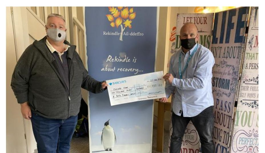 Wales/Cedewain Freemasons contribute to mental health charity coffers