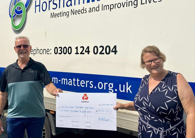 West Sussex/England - Horsham Freemasons donate to charity to help district's most vulnerable