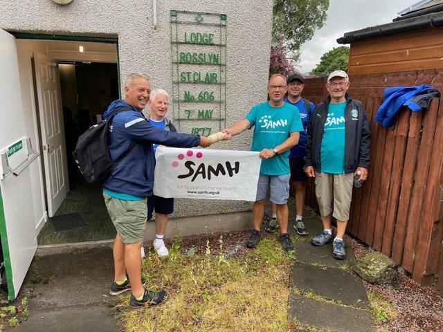 Scotland/Loanhead freemasons in 24 hour charity walk challenge