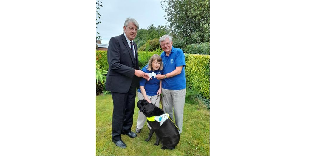 Somerset/England - Freemasons donation to Guide Dogs in Taunton
