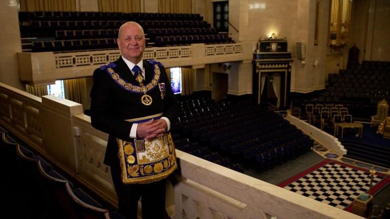 London/England - More than 100 Freemasons initiated at Freemasons' Hall