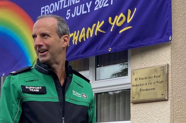Hampshire/England - Freemasons helping to improve mental health